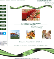 screenshot of Andrew Southcott Catering website designed by IC Webdesign serving jersey guernsey alderney
